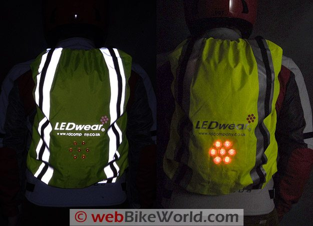 LEDwear LED Backpack Cover at Night