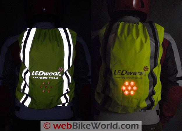LEDwear LED Backpack Cover at Night