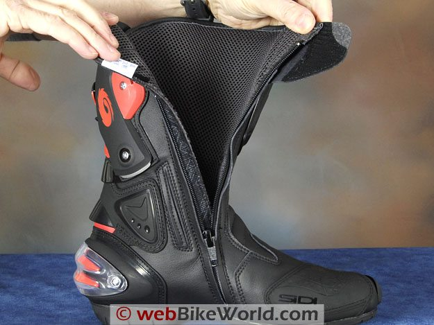 Sidi Vertigo Lei Boots - Lining and Zipper