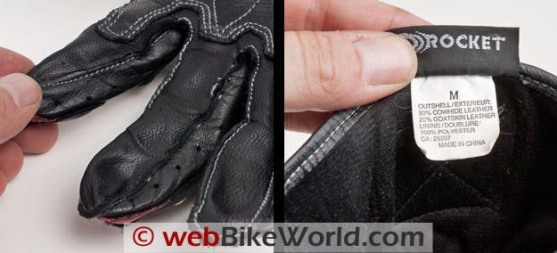 Joe Rocket Highside Gloves - Finger Details