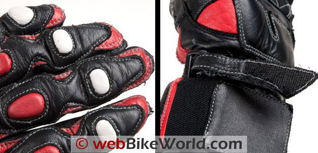 Joe Rocket Highside Gloves - Stitching and Strap