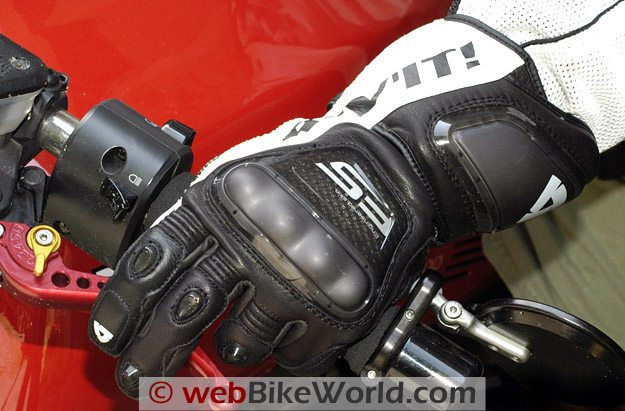 REV'IT! Jerez Gloves on the Motorcycle