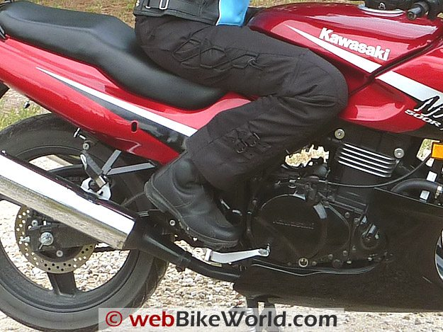 TCX Sunray Boots - On the Motorcycle