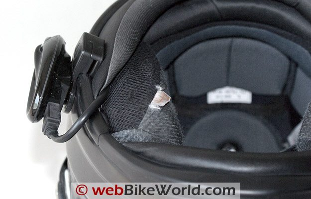 Twiins Motorcycle Bluetooth Intercom - Helmet Mount, Underneath