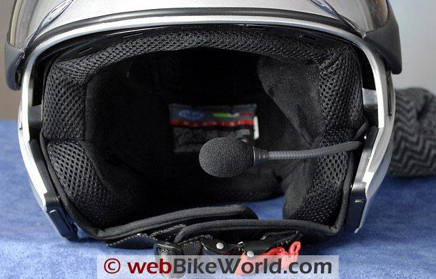 Vemar CKQI Bluetooth Motorcycle Helmet - Microphone