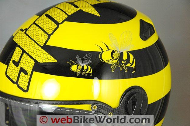 Zeus ZS-210C Helmet - Top Details