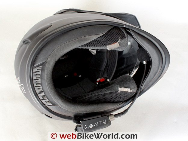 BikerCom Motorcycle Intercom Communications System Helmet Underneath