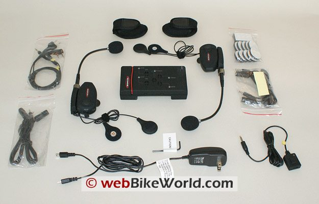 BikerCom Motorcycle Intercom Communications System Parts