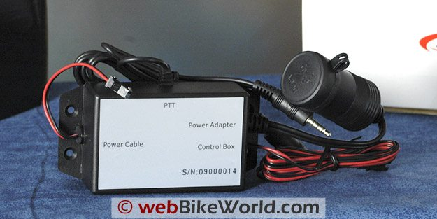 BikerCom Motorcycle Intercom Communications System - Push to Talk Controller