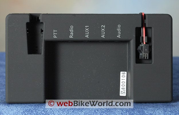 BikerCom Motorcycle Intercom Communications System - Control Module, Rear View