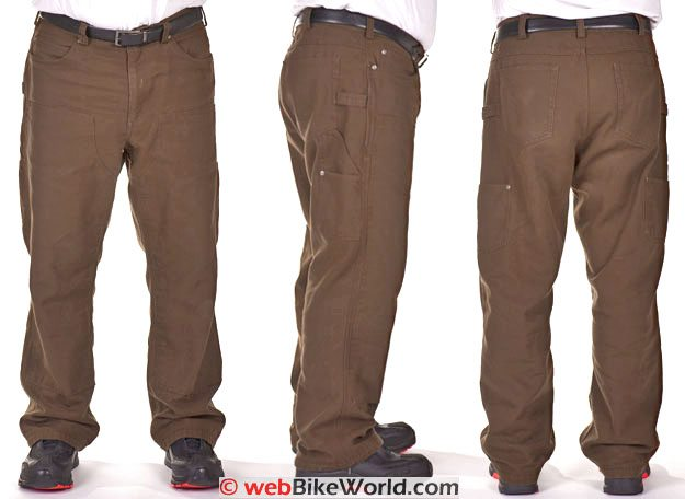 Front, Side and Rear Views of the Duluth Trading Company Fire Hose Logger Pants