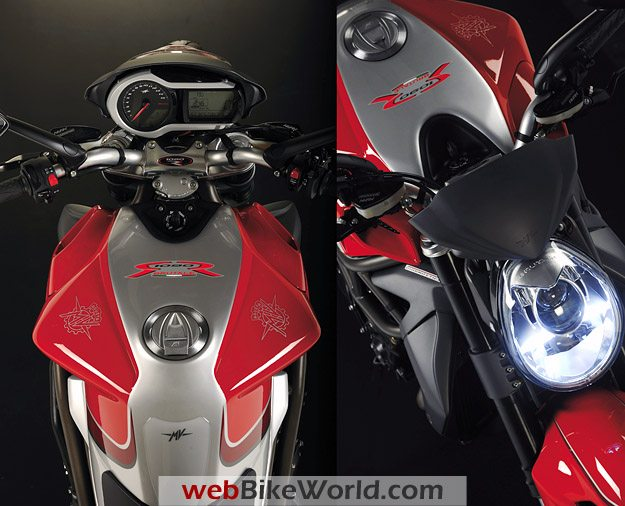 2010 MV Agusta Brutale 1090RR Tank and Front Views