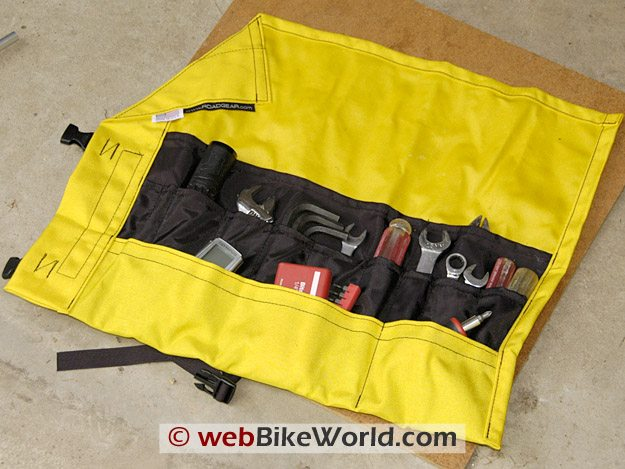 Roadgear Motorcycle Tool Roll Open