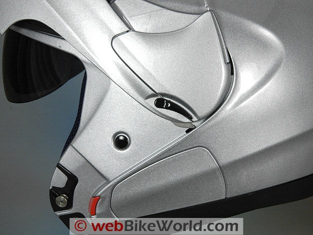 Suomy D20 helmet visor locking mechanism