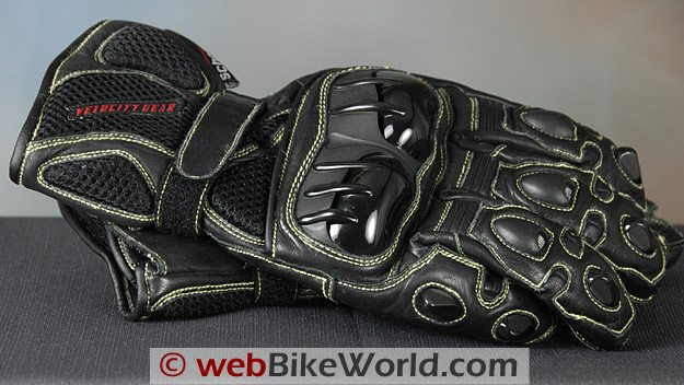 Velocity Gear Exhibition Pro Gloves Close-up