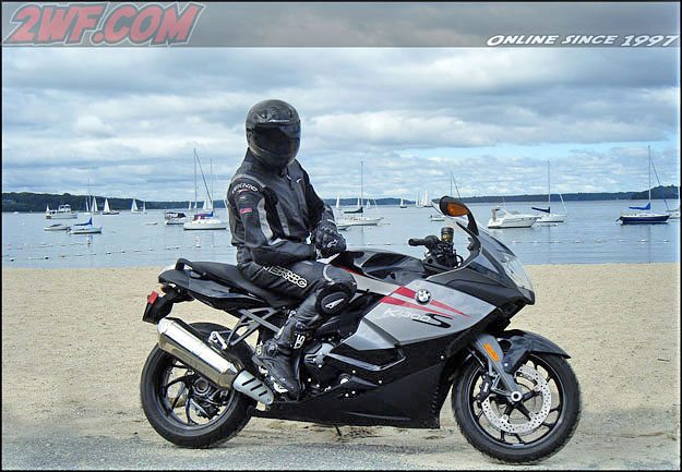 BMW K 1300 S With Rider