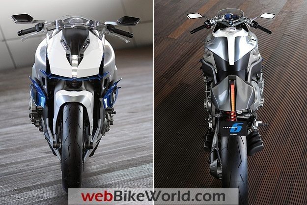 Front and Rear Views of the BMW Motorrad Concept 6