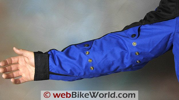 Sleeve Adjustment Snaps on the Fieldsheer Aqua Tour Jacket