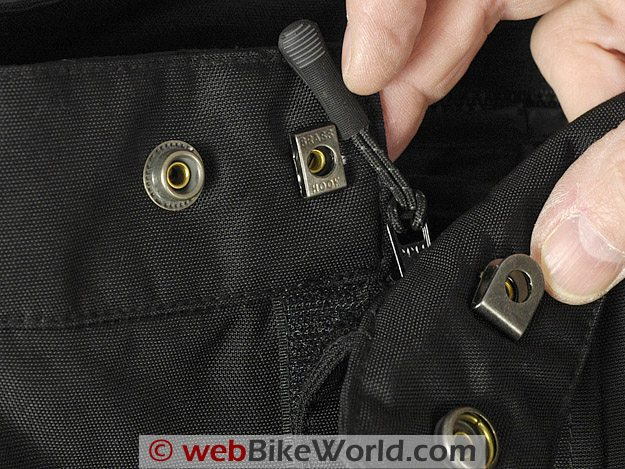 Waist Attachment on the Firstgear Escape TPG Textile Pants