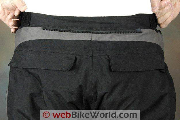 Firstgear Escape TPG Textile Pants - Rear Attachment Zipper and Pockets