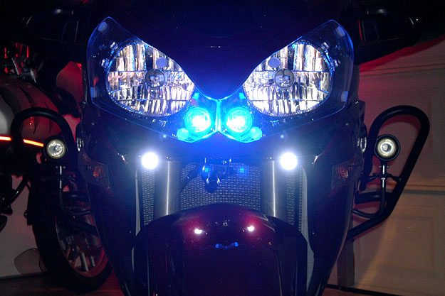 BikeVis LED lights on a Kawasaki Concours