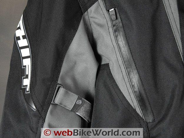 Shift Triton SS Waterproof Jacket - Waterproof Zipper and Sleeve Adjuster