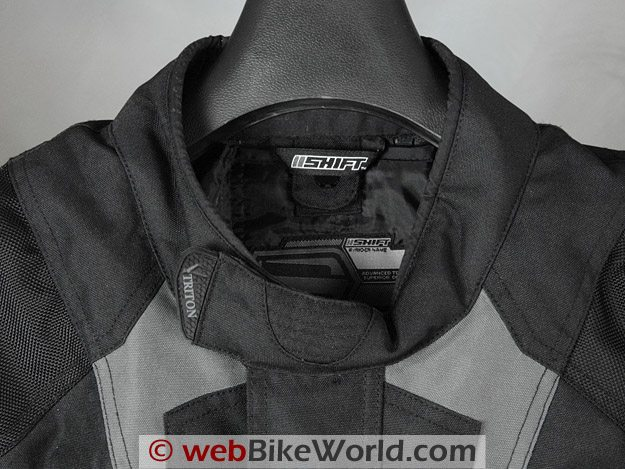 Shift Triton SS Waterproof Jacket - Collar Close-up