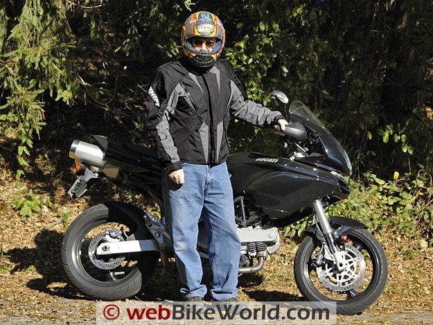 Shift Triton SS Waterproof Jacket on Rider