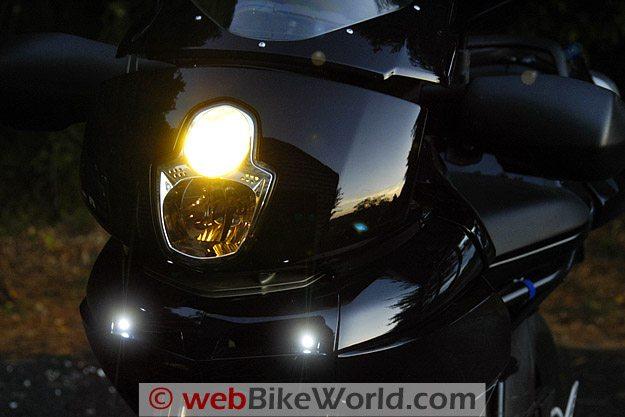 BikeVis Bullet LED Lights Turned On