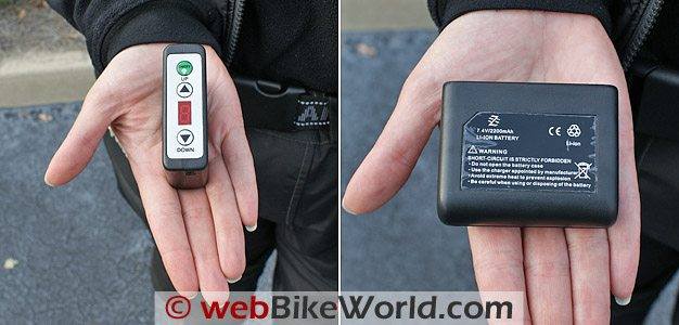 Blazewear Battery Heated Vest Heat Controller and Battery Pack
