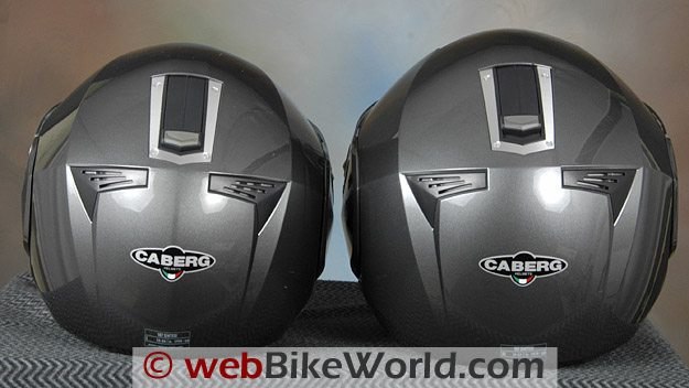 Caberg Sintesi size L and XL, Rear View