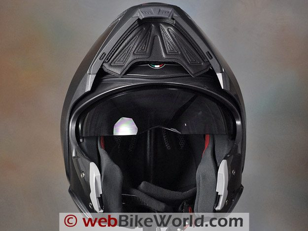 Caberg Sintesi can be worn with the visor in the raised position.