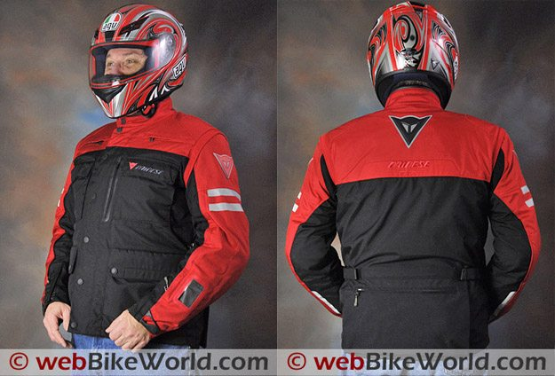 Dainese D-System D-Dry Jacket - Front and Rear Views