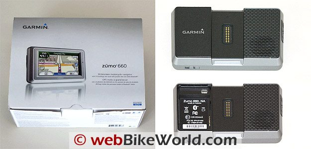 Garmin zumo 660 Box and Battery