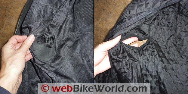 Scorpion Elektra Jacket Liner Details