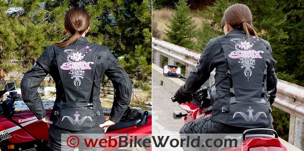 Scorpion Elektra Jacket Rear Views