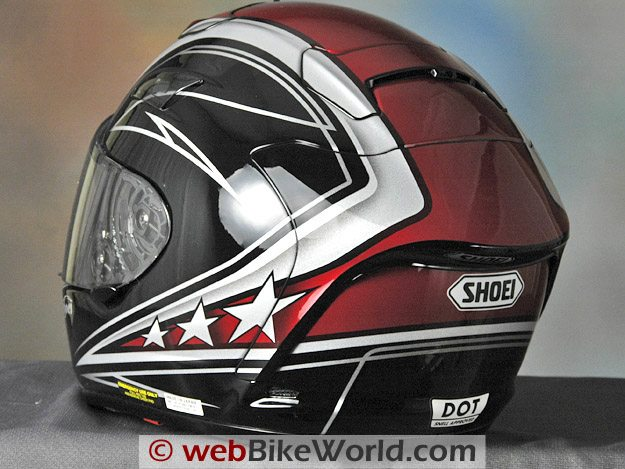 Shoei X-12 (X-Twelve) Helmet - Rear View