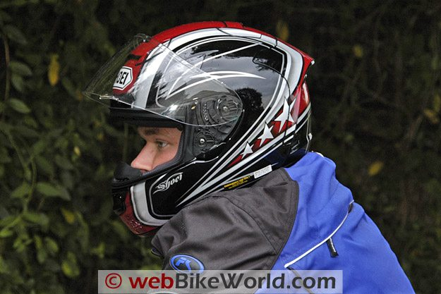 Shoei X-12 (X-Twelve) Helmet on Rider