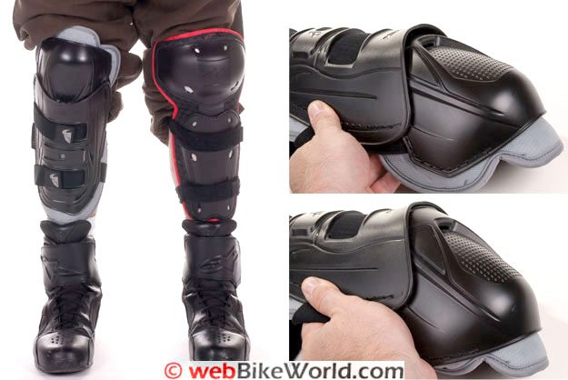 Thor Knee Guards - Size comparison and photos of flex