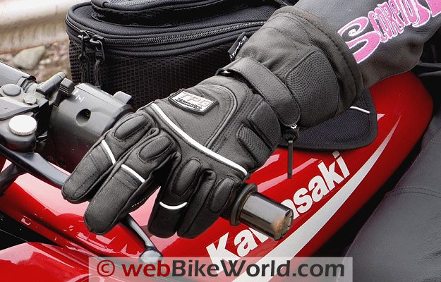 Firstgear Glacier Women's Gloves on the Motorcycle