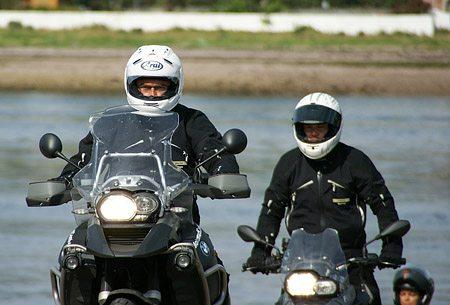 Gore Lockout Closure System on Motorcycle Riders