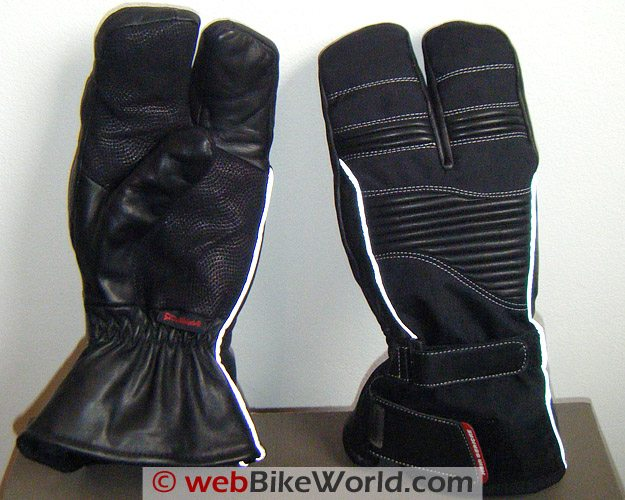 Hein Gericke Pathan Gloves - Front and Back