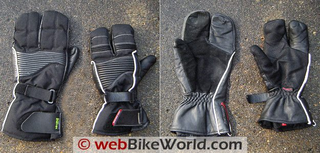 Hein Gericke Pathan Gloves - Old (Left) and New (Right)