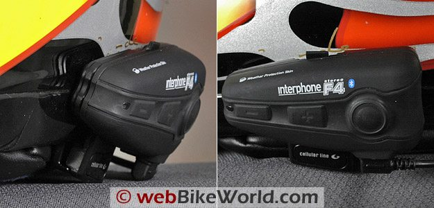 Interphone F4 Intercom Helmet Mount