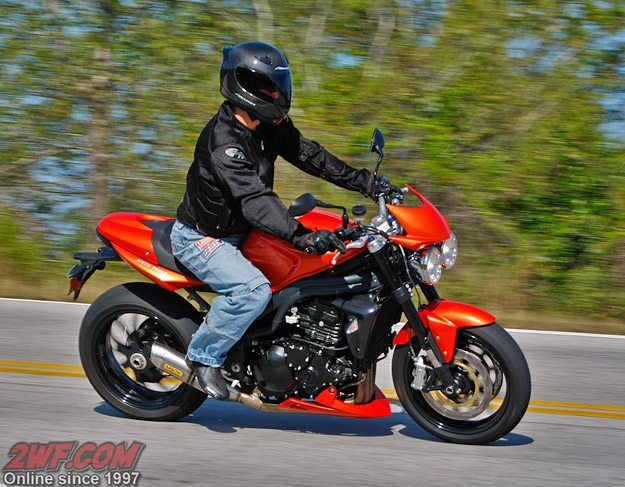 Triumph Speed Triple and Rider