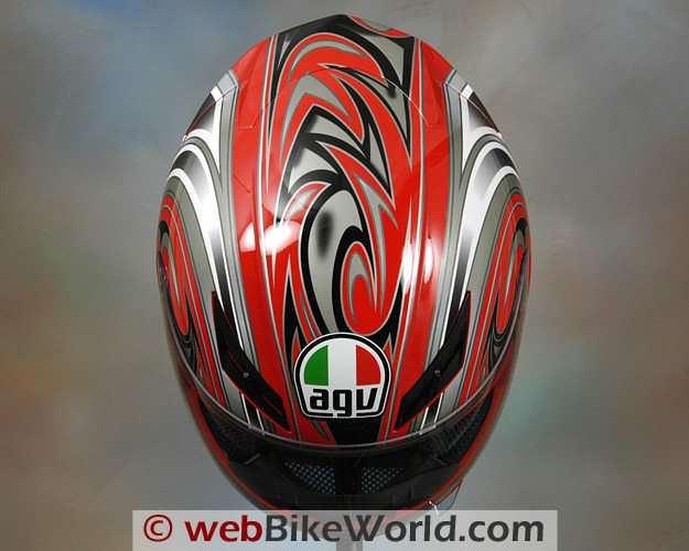 AGV K3 Helmet - Top View