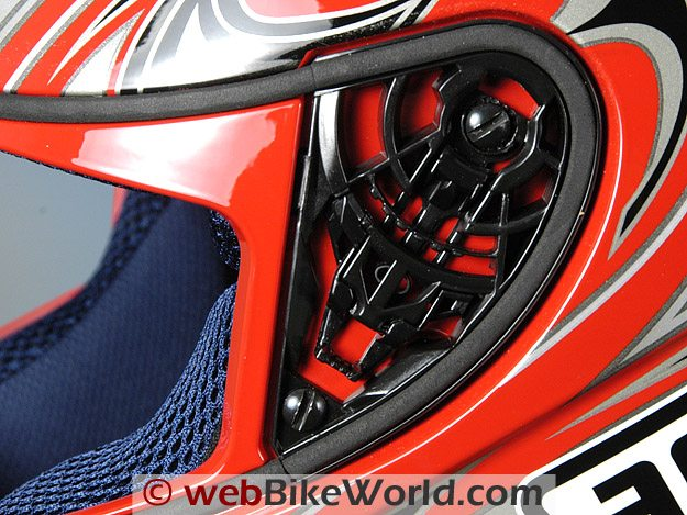 AGV K3 Helmet Face Shield Removal Mechanism