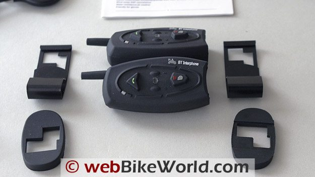 AKE BT Multi-Interphone Motorcycle Intercom and Mounting System