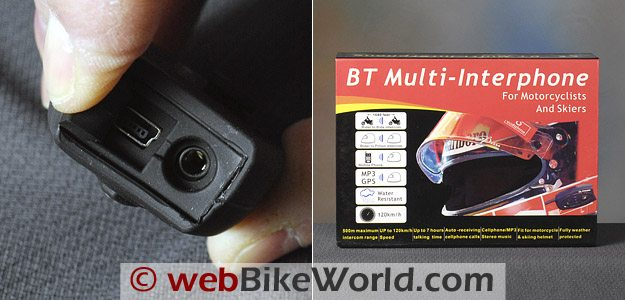 AKE BT Multi-Interphone Motorcycle Intercom - Module and Box Cover