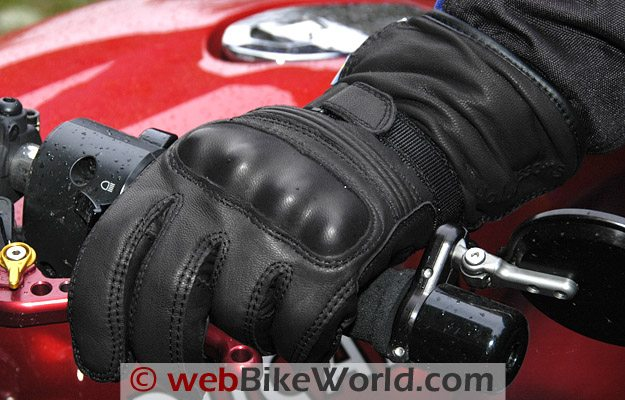 Halvarssons Safety Grip Motorcycle Gloves on Rider